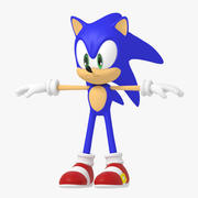 Sonic the Hedgehog character 3d model