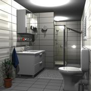 Scen för badrumsmöbler 3d model