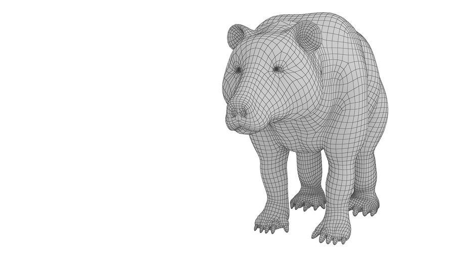 Niedźwiedź grizzly z futrem royalty-free 3d model - Preview no. 12