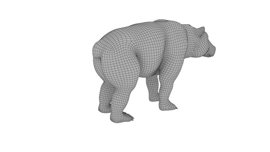Niedźwiedź grizzly z futrem royalty-free 3d model - Preview no. 11