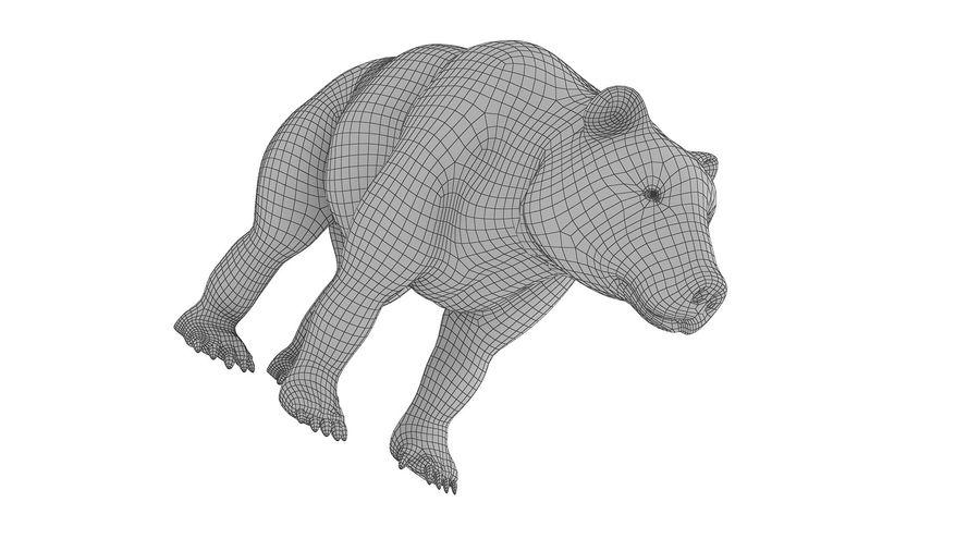 Niedźwiedź grizzly z futrem royalty-free 3d model - Preview no. 8