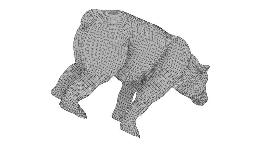 Niedźwiedź grizzly z futrem royalty-free 3d model - Preview no. 9