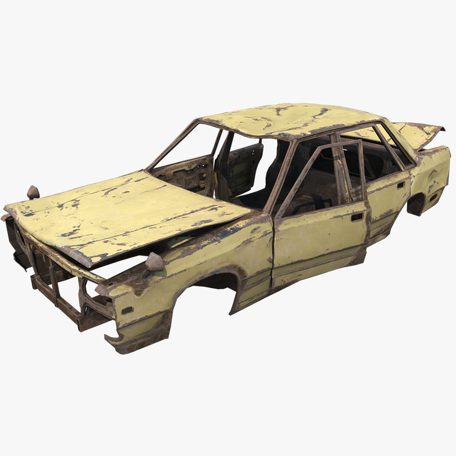Abandoned Rusty Car PBR royalty-free 3d model - Preview no. 1