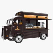 커피 트럭 3d model