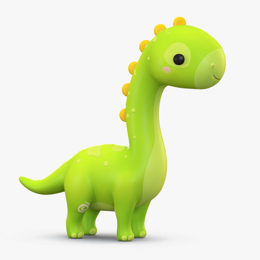 Cartoon Dinosaurier Brachiosaurus royalty-free 3d model - Preview no. 1