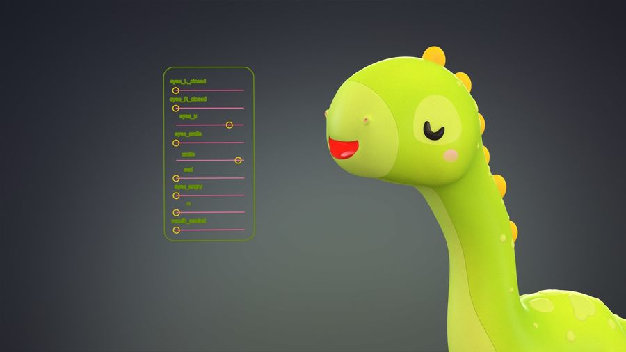 Cartoon Dinosaurier Brachiosaurus royalty-free 3d model - Preview no. 27