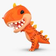 만화 공룡 T- 렉스 3d model