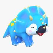 卡通恐龙三角龙 3d model