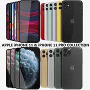 Apple iPhone 11 & 11 Pro Collection 3d model