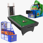 Drie arcadegames 3d model