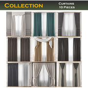 Curtains Collection 10 Adet 3d model