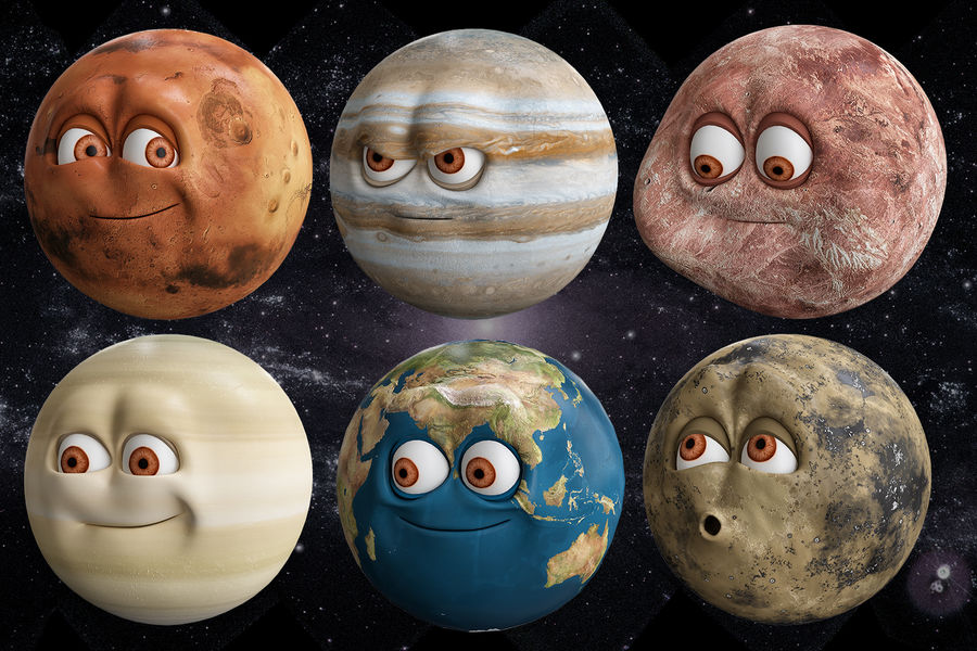 solar system All planets royalty-free 3d model - Preview no. 1