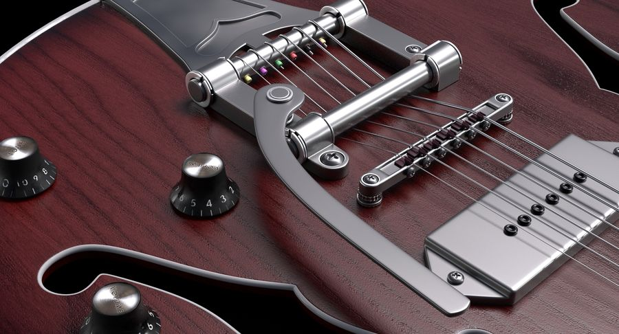 エレキギター royalty-free 3d model - Preview no. 3
