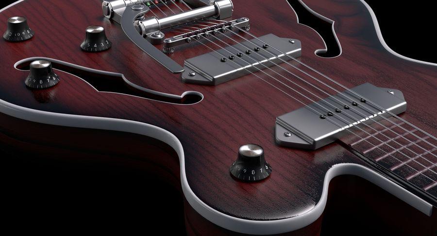 エレキギター royalty-free 3d model - Preview no. 4