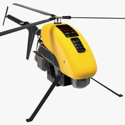 Helicopter UAV Drone Rigged 3d model