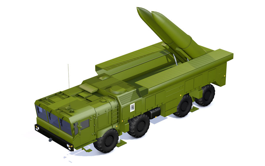 Iskander missile launcher royalty-free 3d model - Preview no. 6