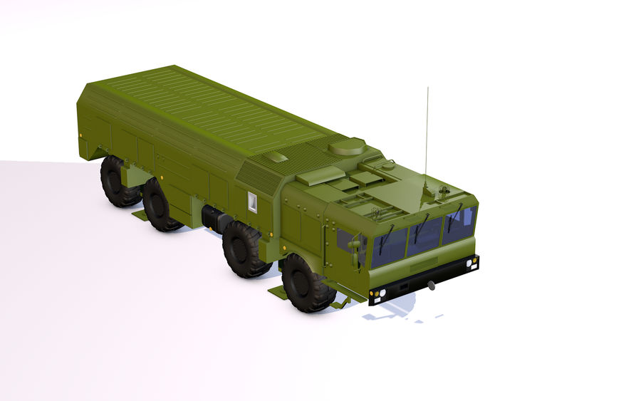 Iskander missile launcher royalty-free 3d model - Preview no. 2