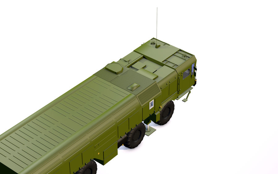 Iskander missile launcher royalty-free 3d model - Preview no. 3
