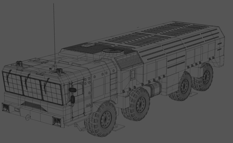 Iskander missile launcher royalty-free 3d model - Preview no. 9