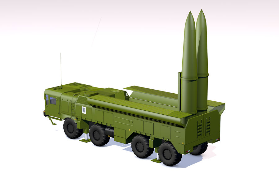 Iskander missile launcher royalty-free 3d model - Preview no. 12