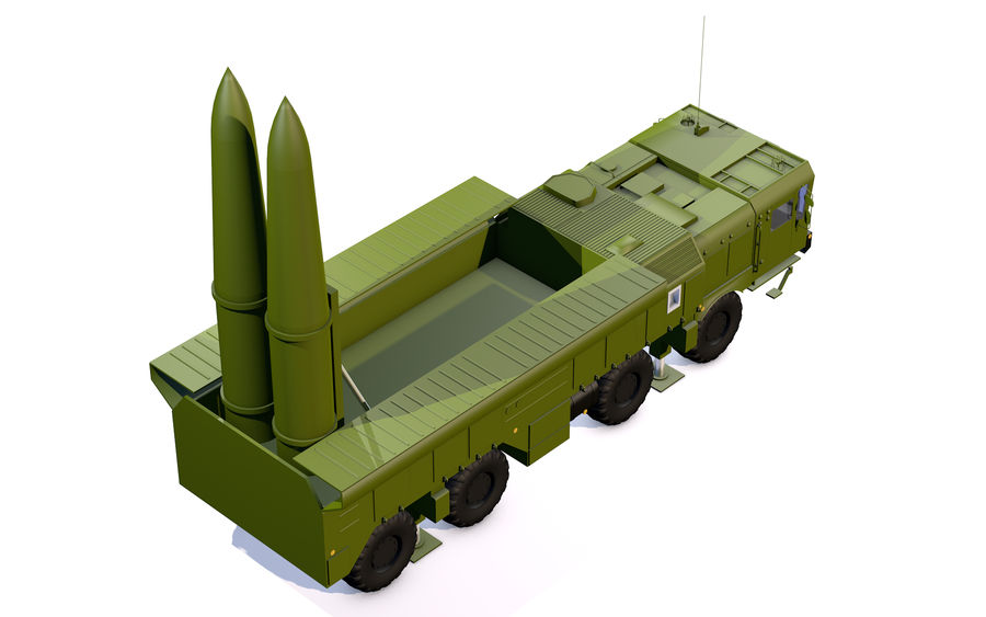 Iskander missile launcher royalty-free 3d model - Preview no. 4