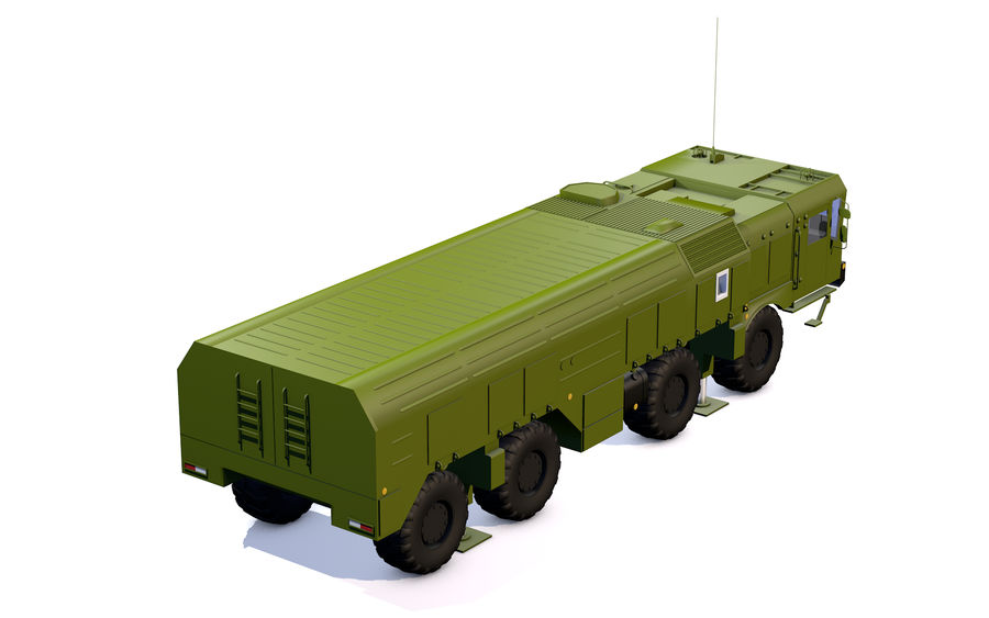 Iskander missile launcher royalty-free 3d model - Preview no. 11