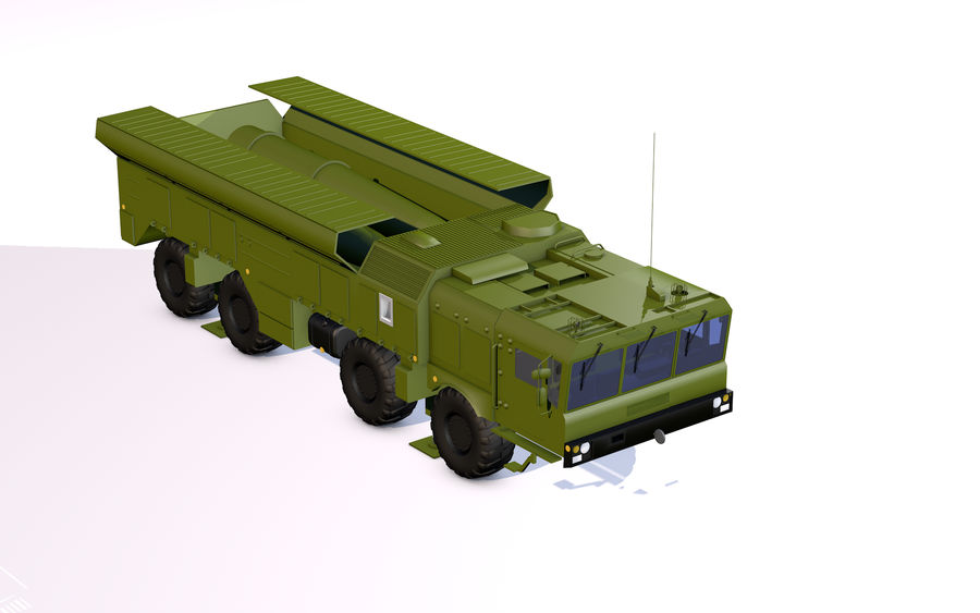 Iskander missile launcher royalty-free 3d model - Preview no. 1