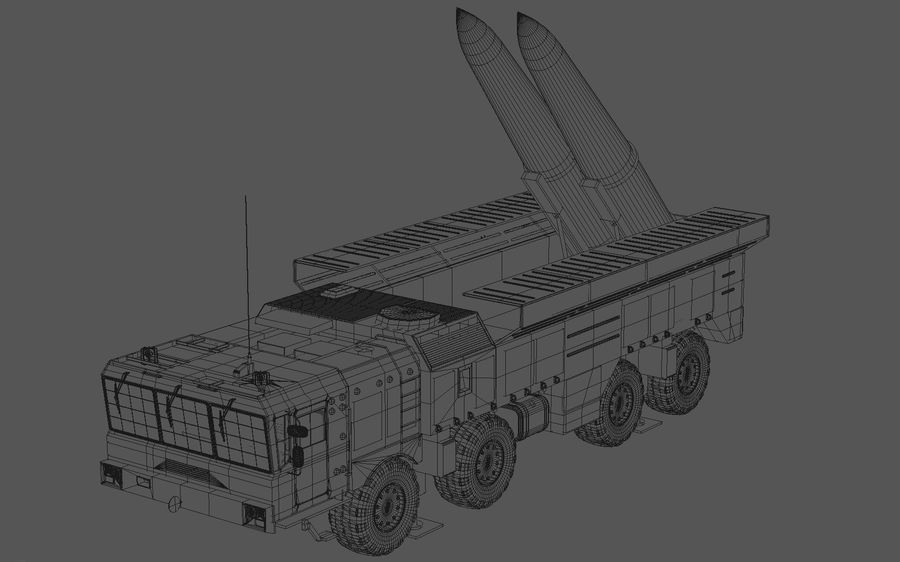 Iskander missile launcher royalty-free 3d model - Preview no. 10