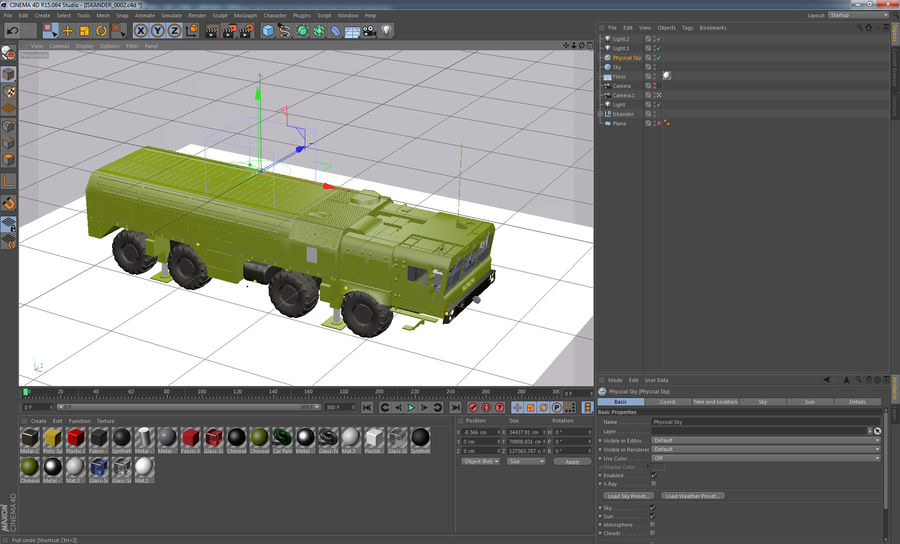 Iskander missile launcher royalty-free 3d model - Preview no. 14