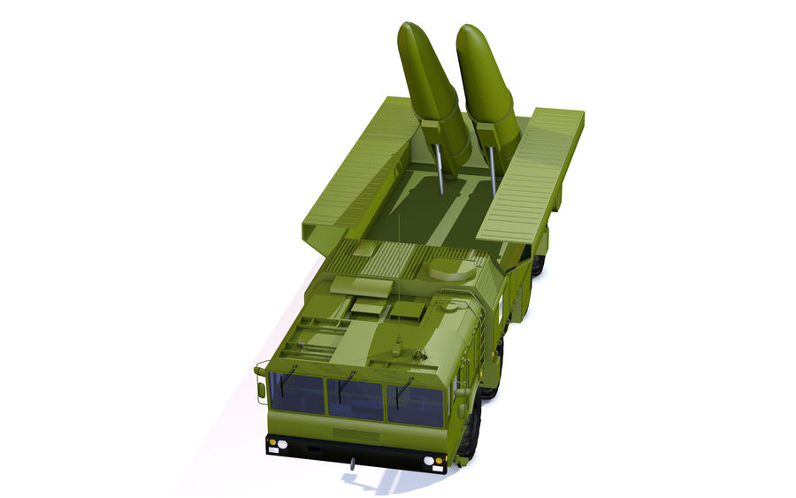 Iskander missile launcher royalty-free 3d model - Preview no. 7