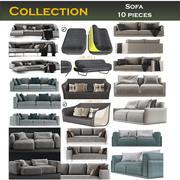 Canapé 10 pièces 3d model