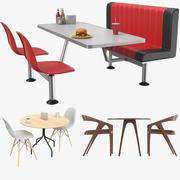 Cafe Masaları Koleksiyonu 3d model
