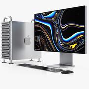 Apple Mac Pro Set 2019 3d model