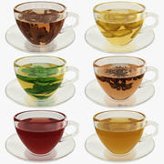 Coleção Green Tea 3d model