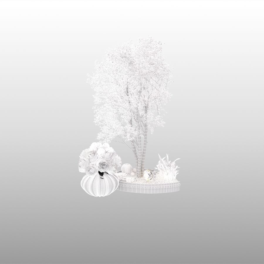 plant miniature tree royalty-free 3d model - Preview no. 6