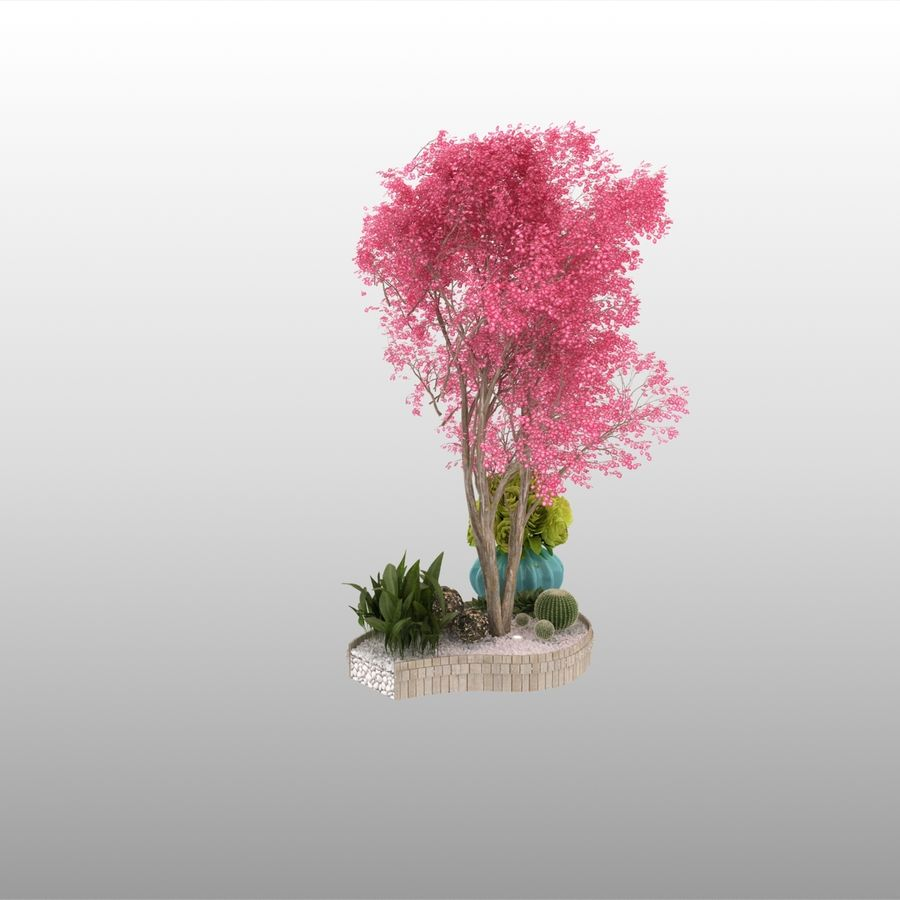 plant miniature tree royalty-free 3d model - Preview no. 3