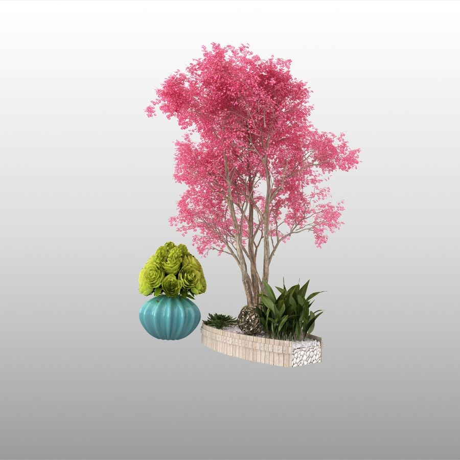 plant miniature tree royalty-free 3d model - Preview no. 4