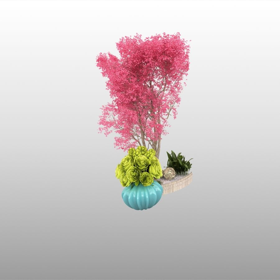plant miniature tree royalty-free 3d model - Preview no. 5