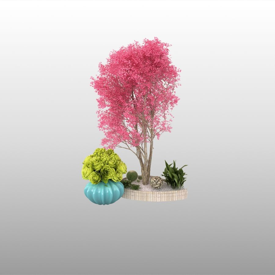 plant miniature tree royalty-free 3d model - Preview no. 1