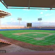 Estádio de beisebol 3d model