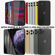 Apple iPhone 11 & 11 Pro Max Collection 3d model