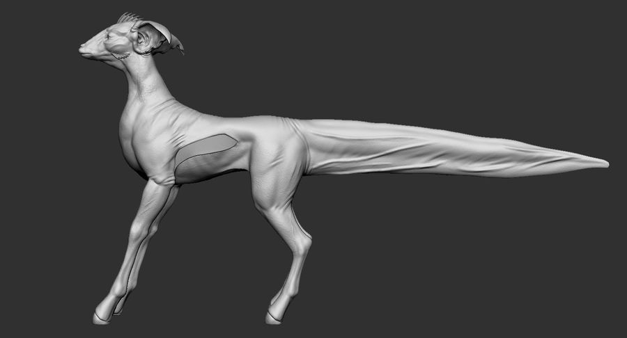 Amphibian Creature Monster Animal royalty-free 3d model - Preview no. 4