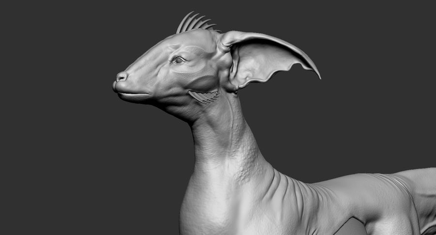Amphibian Creature Monster Animal royalty-free 3d model - Preview no. 12