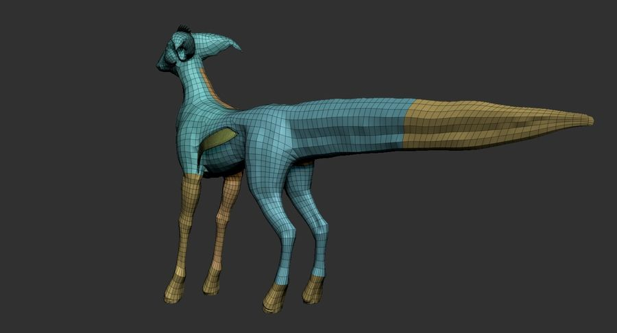 Amphibian Creature Monster Animal royalty-free 3d model - Preview no. 18