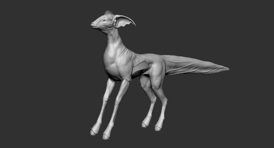 Amphibian Creature Monster Animal royalty-free 3d model - Preview no. 9