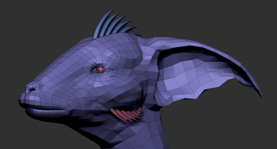 Amphibian Creature Monster Animal royalty-free 3d model - Preview no. 21
