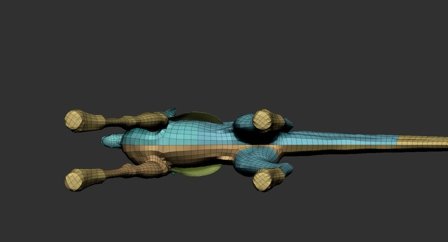 Amphibian Creature Monster Animal royalty-free 3d model - Preview no. 20