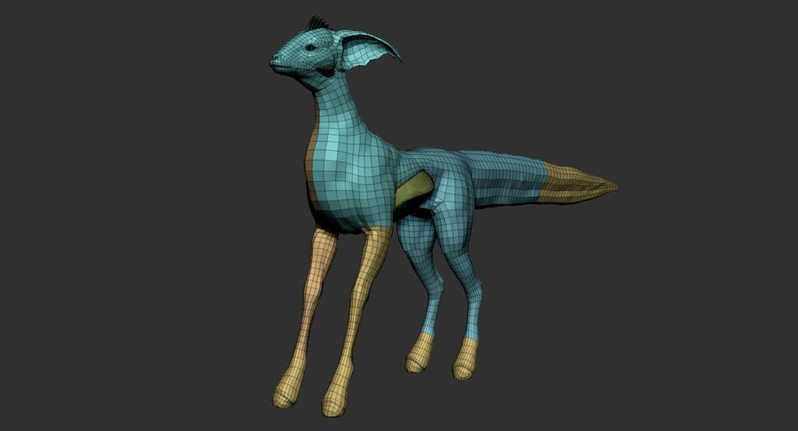 Amphibian Creature Monster Animal royalty-free 3d model - Preview no. 17