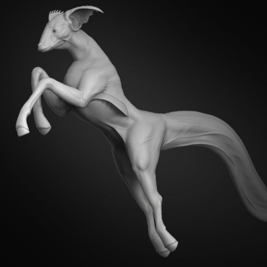 Amphibian Creature Monster Animal royalty-free 3d model - Preview no. 1