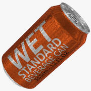 355ml 12oz Wet Standard Beverage Can 2 3d model